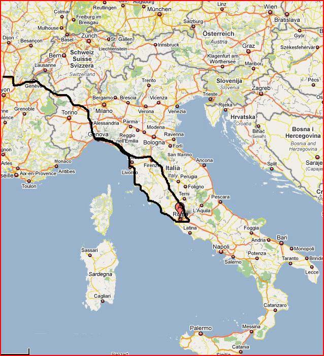 Carte Italie Grosseto.Preparation